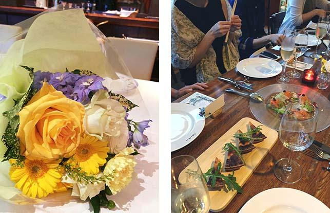 ご友人同士のお食事会で、心温まるサプライズディナーパーティーが開かれました。