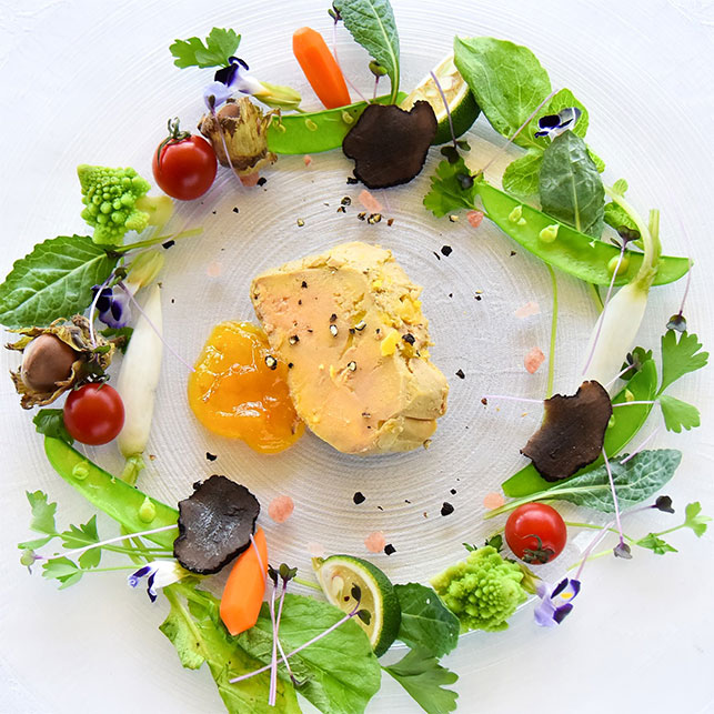 Here at Cafe Terrasse de Paris we offer a foie gras option among our course menus!