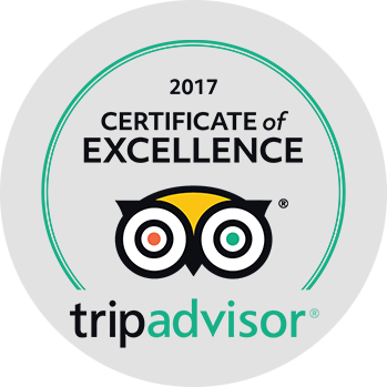 Awarded the highest accolade by TripAdvisor® for five consecutive years